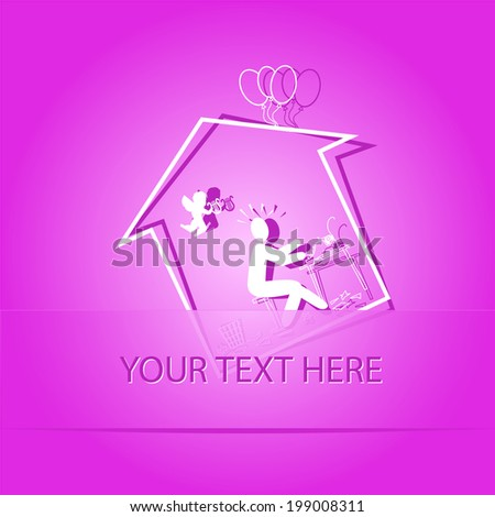 home inspiration paper sticker