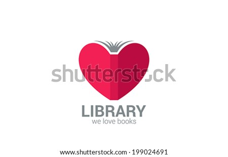 book store vector logo design