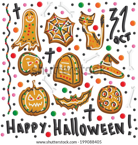 halloween cookies symbols of