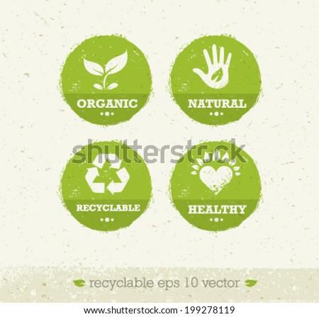 organic green circle icons