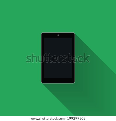 tablet template  flat design