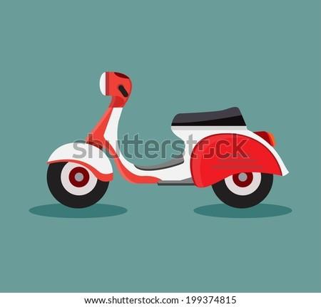 vector retro scooters