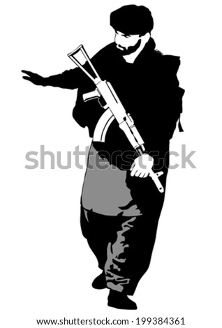 soldier in uniform with gun on