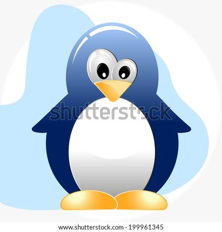 illustration of funny penguin