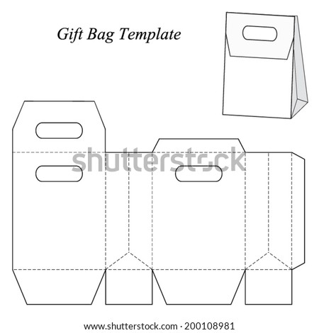 Paper Bag Ai Template Free Vector Download 63707 For