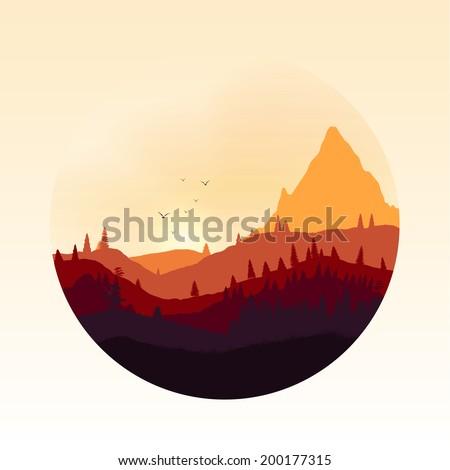 colourful mountain landscape