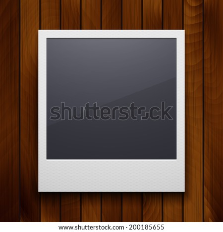 retro photo frame isolated on