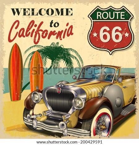 welcome to california retro