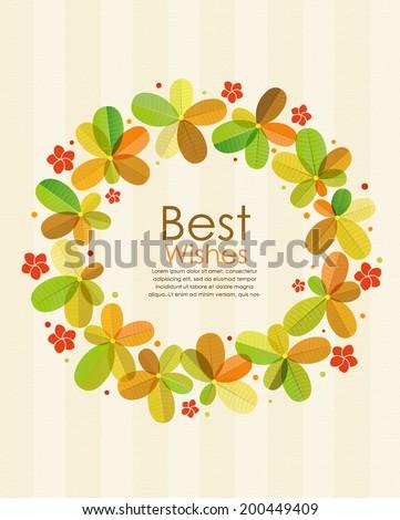 leaf circle fram   tropical