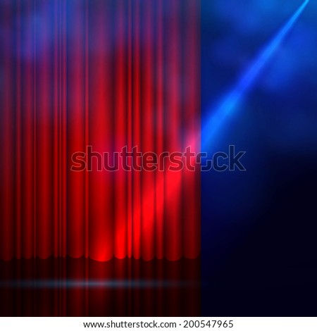 red curtain  spotlight   dark