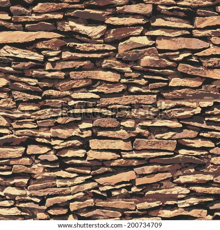 stone wall  brown relief