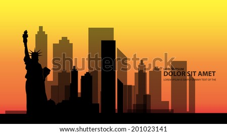 new york skyline city vector