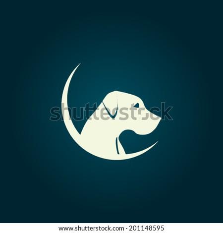 dog logo concept   vector