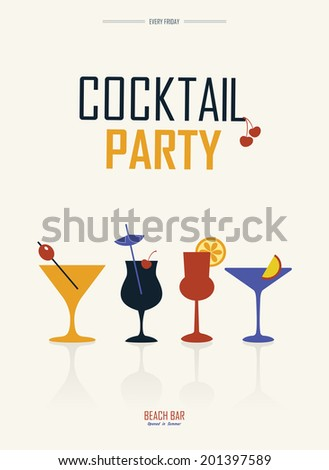 cocktail party simple retro