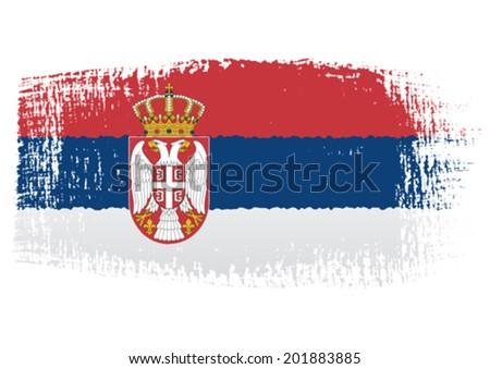 brushstroke flag serbia