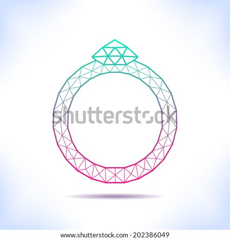 geometric ring for invitation
