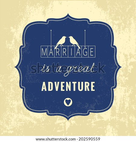 marriage vintage vector