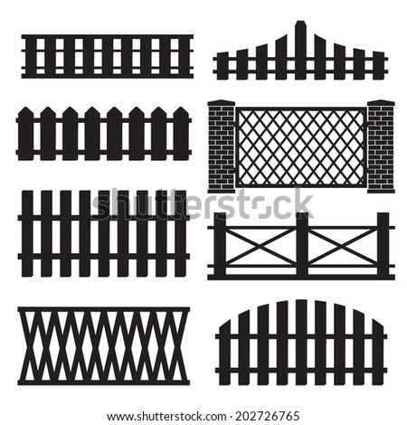 big set of wooden fence