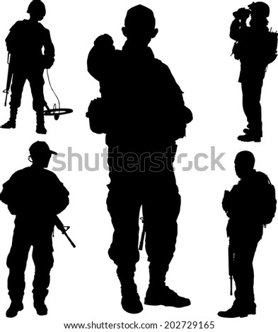 silhouette of soldier with