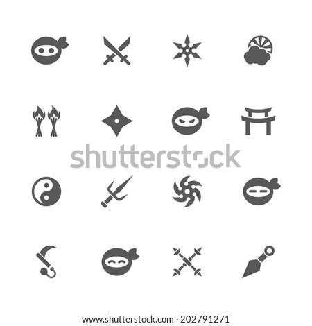 ninja icons  vector
