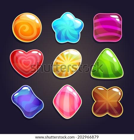 candies vector set