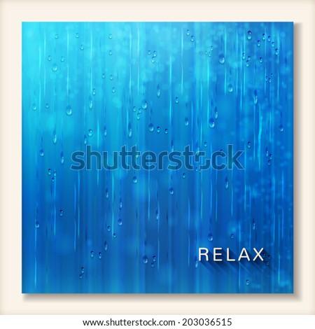 blue shiny rain abstract water