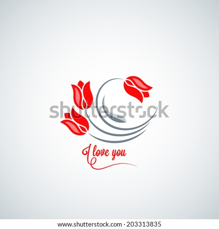 tulip flower design background