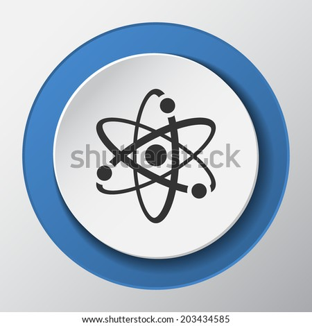 atomic paper icon with shadow