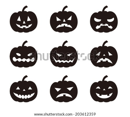halloween pumpkins with various