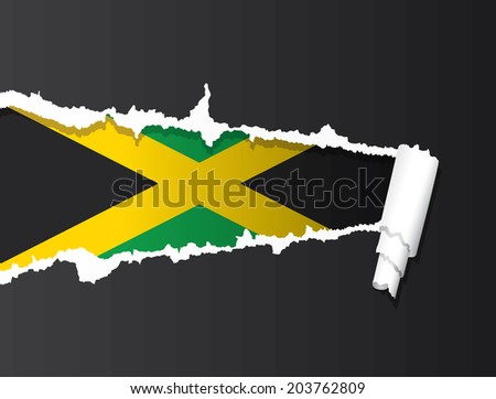 flag of jamaica under ripped