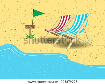 couple beach chairs on beach