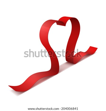 ribbon red heart part of heart