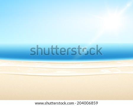 vector sandy sea beach summer