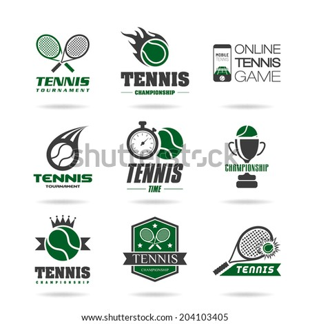 tennis icon set   3