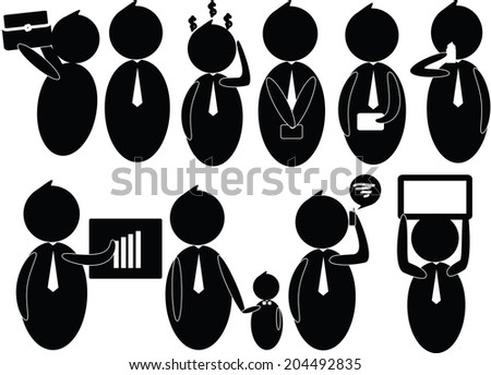 vector businessman employee