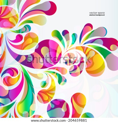 abstract colorful arc drop