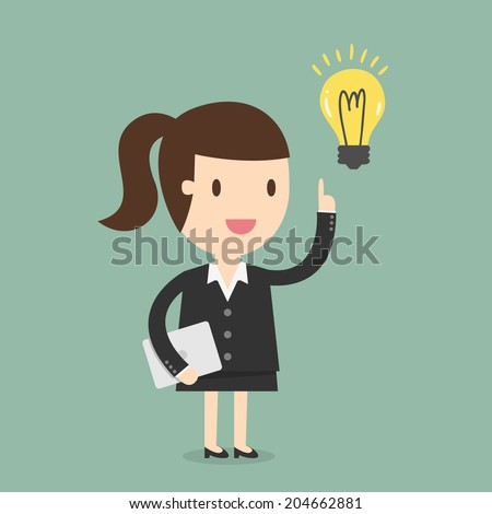 business woman get an idea