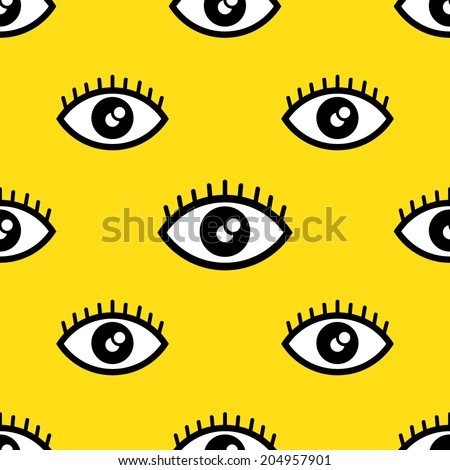 abstract eye seamless pattern