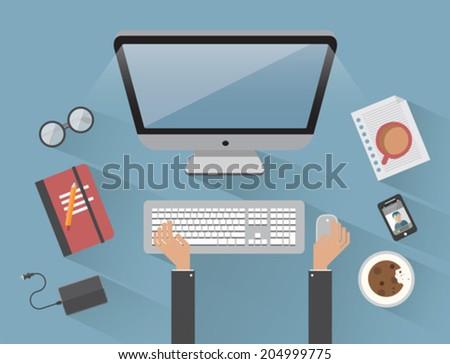 digitally generated man working
