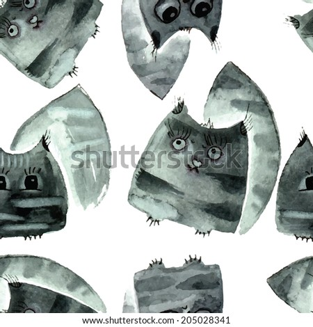 watercolor cats watercolor
