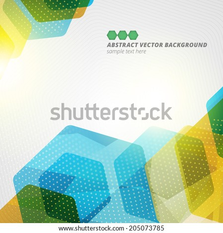 abstract hexagon geometric