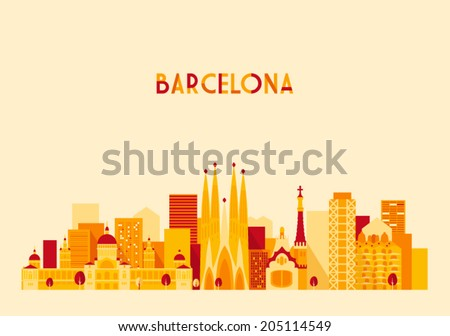 barcelona spain big city
