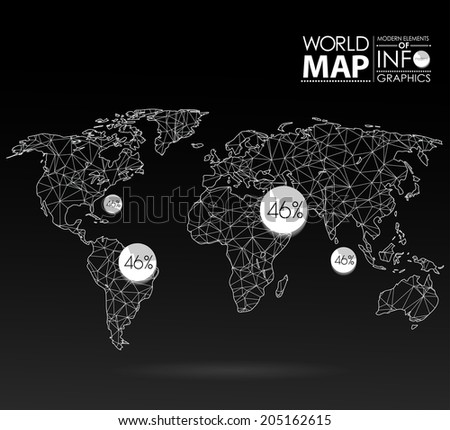 world map background in