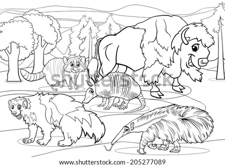 black and white cartoon vector