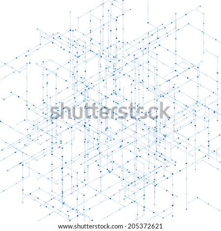 abstract isometric computer