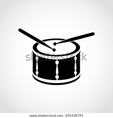 drum icon isolated on white