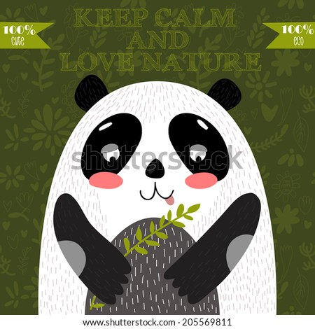 keep calm and love naturecute
