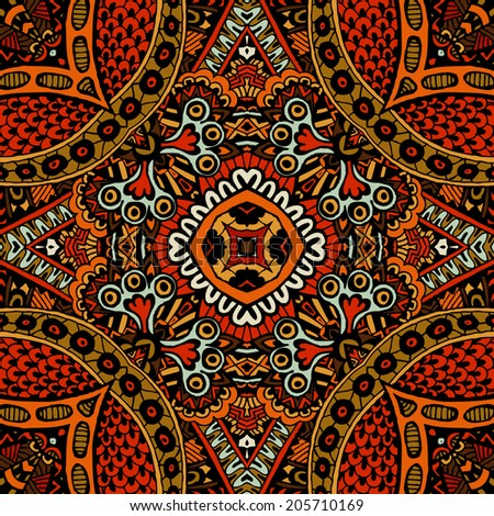 vector ethnic autumn abstract