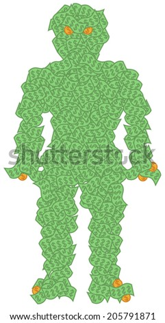 vector illustration of man made