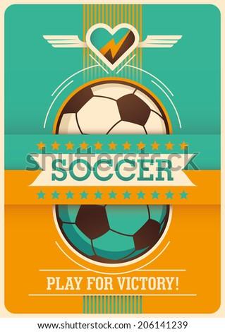 conceptual soccer poster design